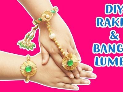 DIY HOW TO MAKE RAKHI AND BANGLE LUMBA   HANDMADE BHAI & BHABHI RAKHI   RAKHI SPECIAL  