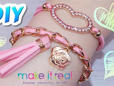 DIY Juicy Couture Sweet Suede Bracelets - How to Make Juicy Couture Bracelets from Make It Real