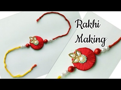 DIY Rakhi | Silk Thread Rakhi | Silk Thread Rakhi Making at Home | How to make Rakhi for Kids