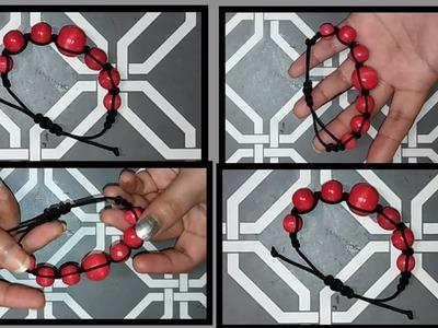 DIY Shamballa Bracelet || Macrame Bracelet using Wodden Weads || Friendship Bracelet