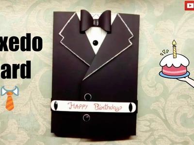 DIY || TUXEDO CARD || Handmade Birthday Gift for Friend ????