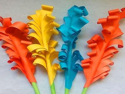 Easy origami flowers    how to make stick flower   DIY Paper Flowers Tutorial-FlowerUpc