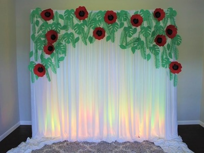 Exotic Leaf Backdrop DIY | How To