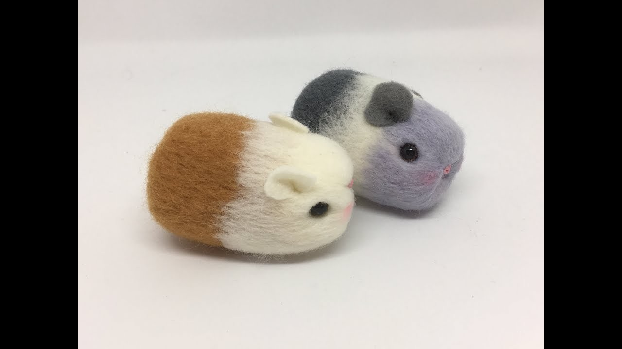 How to make a needle felt guinea pig. -Great for Beginners.