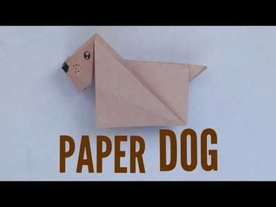 How To Make A Paper Dog || A+ Origami || A+ Art