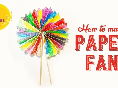 How to make a paper fan   l CRAFTY FELLOWS