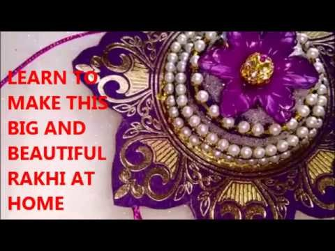 How to Make big and beautiful Rakhi at home | Best use of old wedding card by chaitras creations