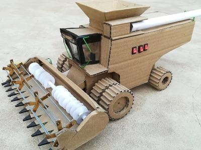 How to make DIY Harvester from cardboard at home    John Deere Harvester