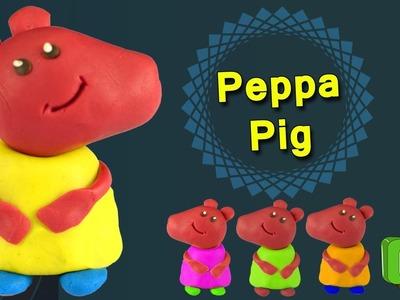 How To Make Peppa Pig With Play Doh | Peppa Pig Fun Craft For Preschool Kids | Tree Kids