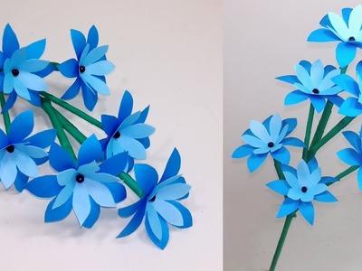 How to Make Very Beautiful Paper Stick Flower!! Stick Flower: Handcraft | Jarine's Crafty Creation