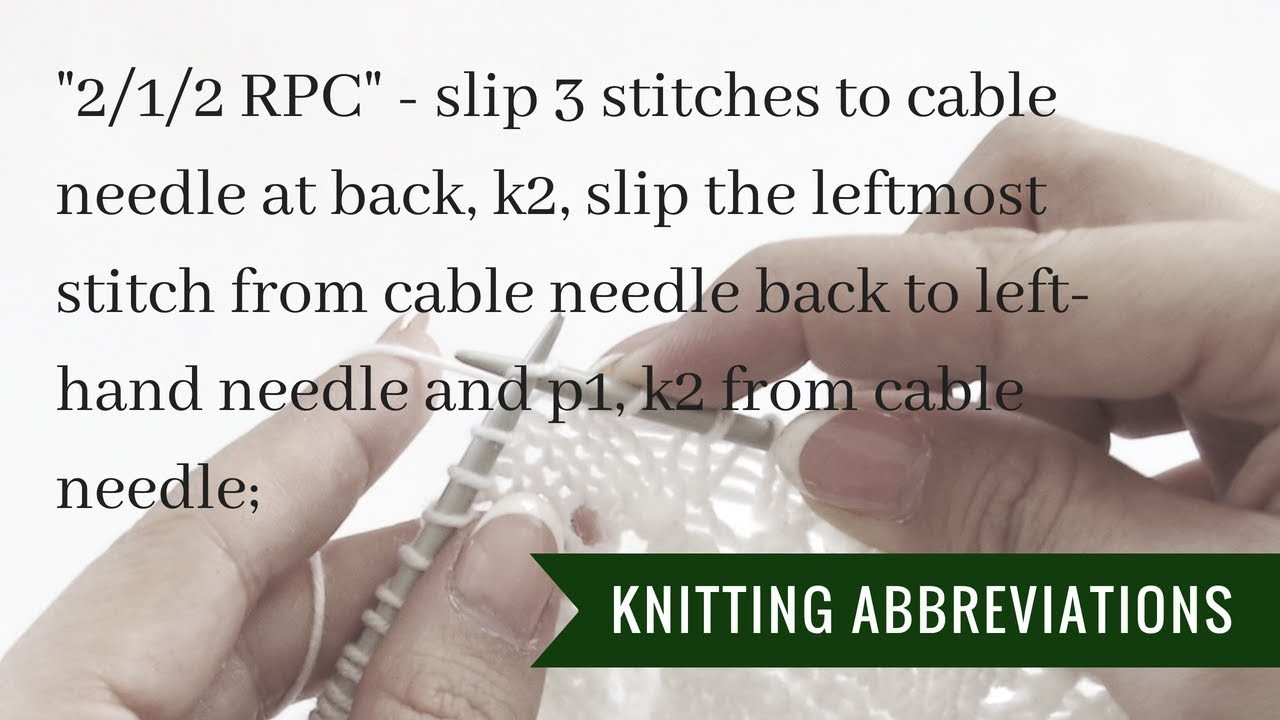 Knitting instructions 2.1.2 RPC | Pattern Duchess