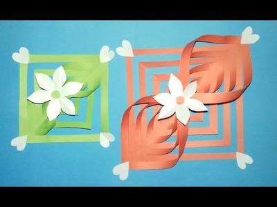 Origami, How to Make A Paper Flower,  Origami Paper Flower,  কাগজ দিয়ে সুন্দর ফুল বানানো শিখুন