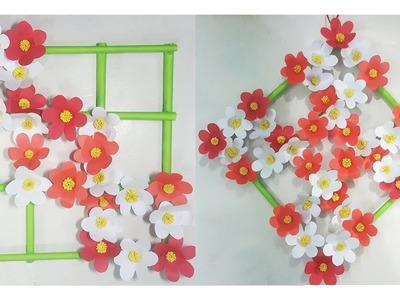 Paper Flower Wall Hanging - DIY Hanging Flower - Wall Decoration ideas #117.