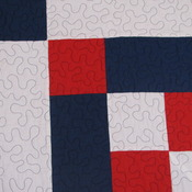 Patriotic Chevron Cross Handmade New 100 % Cotton