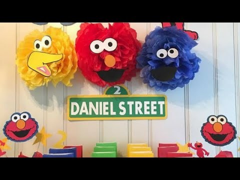 Sesame Street birthday DIY