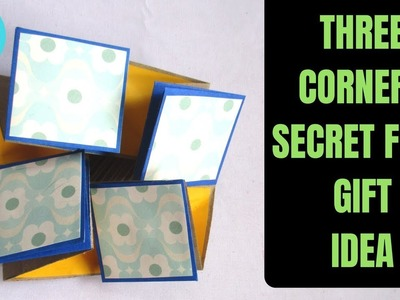 Three Corners Secret Fold Gift Idea | DIY Folds