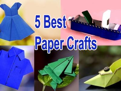 5 Best Paper Crafts | DIY Paper Crafts | Technic Guru