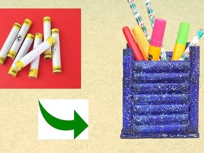 Best out of Waste Thread Spool Ideas - DIY Thread Spool Pen Stand