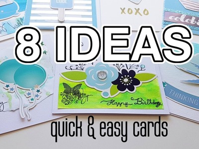 DIY CARDS: 8 quick and easy ideas - Simple minimalist cards