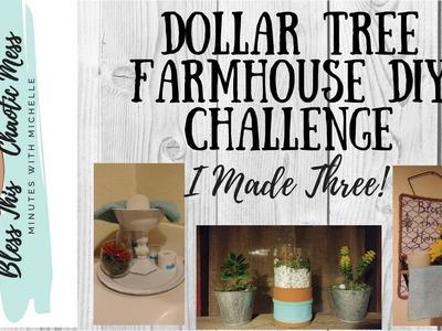 DIY Dollar Tree Farmhouse Bathroom Decor Challenge with Nett & Tina!!