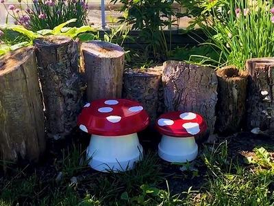 ????DIY Garden Mushrooms Will Turn Your Backyard into an Oasis | Garden DIY????