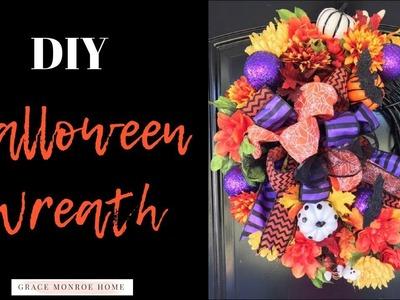 DIY Halloween Wreath LIVE - Dollar Tree Ribbon