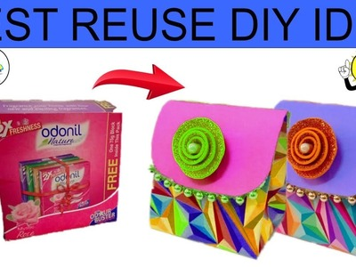 DIY home decorating idea | Best out of waste | Reuse Odonil box | gift box idea