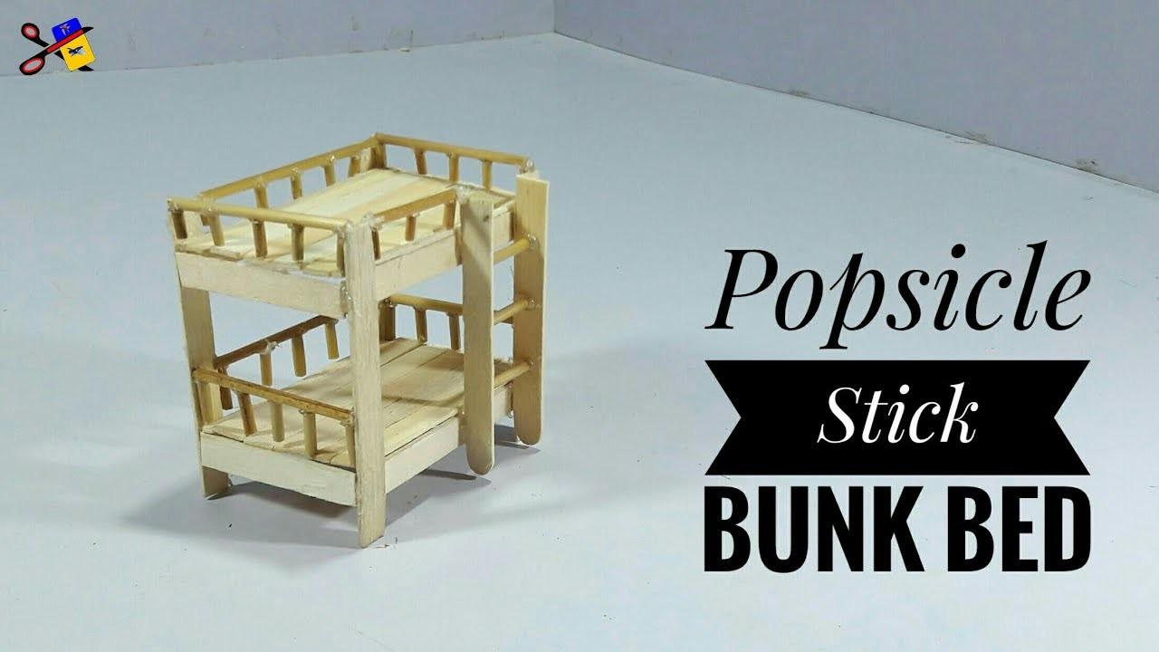 Diy Ice Cream Stick Bunk Bed Diy Arts And Crafts Best Out