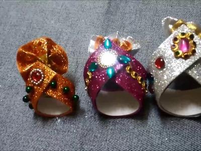 DIY:Mukut for Krishna Ji ||Mukut.Crown.Pagadi making ideas ||Useful Creations ||