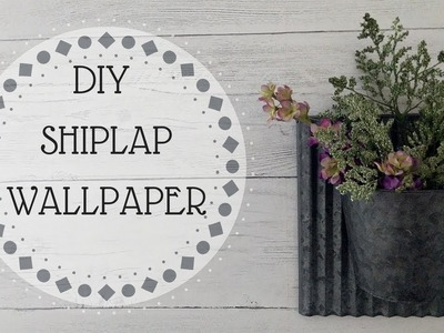 DIY PEEL AND STICK SHIPLAP | NUWALLPAPER | APPLICATION | REVIEW | BEFORE AND AFTER!