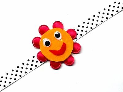 DIY - Smiley Rakhi.Handmade Smiley rakhi for kids. Beautiful Rakhi making at home.Smiley Rakhi