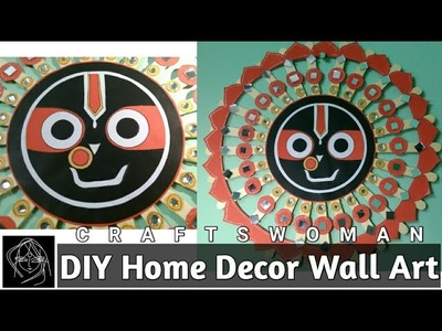 DIY The Face OF LORD JAGANNATH | #ScrapStore |  CRAFTSWOMAN