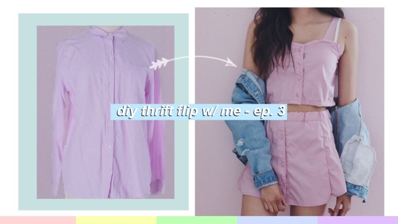 da3f561c92 DIY Thrift Flip W. Me! Ep. 3 - Transforming Old Clothes - Two Piece Outfit
