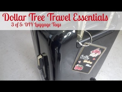 Dollar Tree Travel Essentials 3 of 5: DIY Luggage Tags - AllThingsPure27