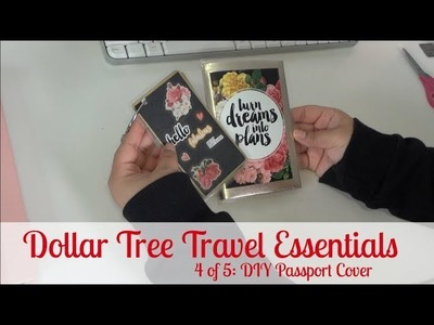 Dollar Tree Travel Essentials 4 of 5: DIY Passport Cover - AllThingsPure27