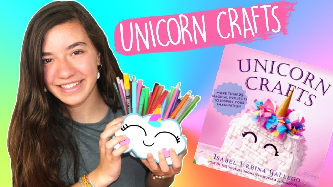 Easy DIY Unicorn Pencil Holder Organizer. Craft Tutorial