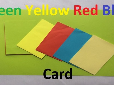 How to make a paper green, yellow, red, blue card