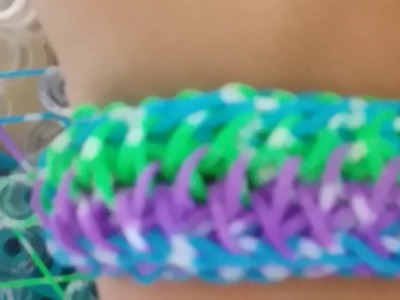 How to make the tropical bracelet rainbow loom