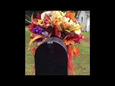Make It Fall Series DIY Mailbox Swag and Wreaths for Fall. Autumn ???? #MakeItFall