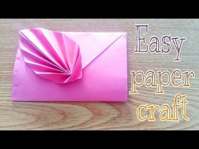 Paper crafts !! Beautiful paper envelope - cool and creative crafts ideas