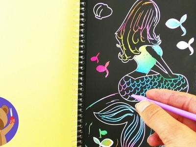 RAINBOW MERMAID in the TopModel by Depesche MAGIC SCRATCH book | Simple DIY pictures