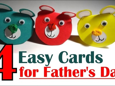 4 Creative Handmade Cards Ideas for Fathers Day 2018- Tuber Tip