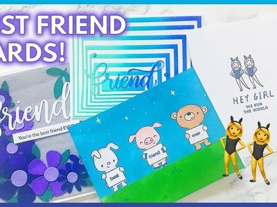 4 Handmade Card Ideas for Your BEST FRIEND
