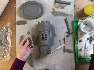 Clay Slab Castle with Moat and Glass Beads Part Four