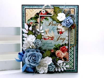 Day 9 of 12 Days of  Christmas in July Vintage Flip Book Graphic 45 Polly's Paper Studio Tutorial