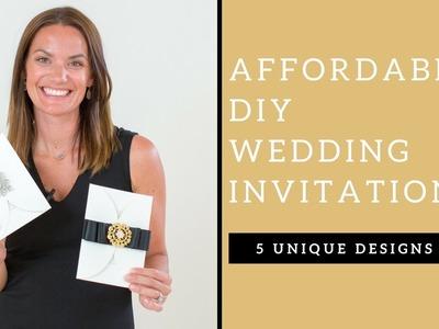 DIY Affordable wedding invitations- 5 unique wedding invitations