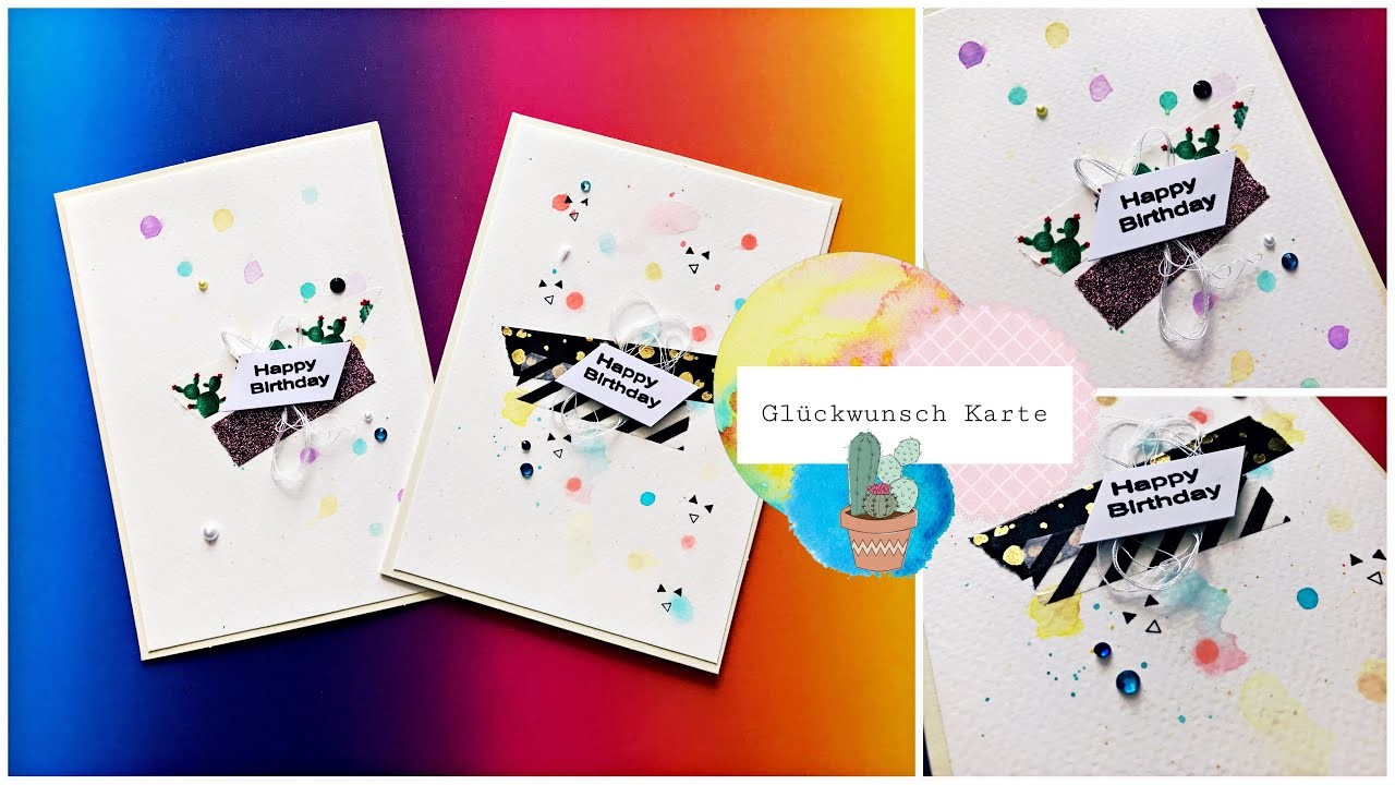 Happy Birthday Karte.Diy Happy Birthday Karte Basteln Greeting Card Be Creative