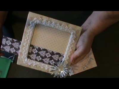 DWP100thingschallenge   74, 75, and 76  Picture frames, gift tags  and lampwork bead earrings