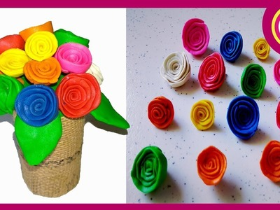 Fancy clay flower vase for house interior-handmade showpieces for home-clay art