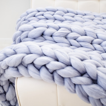 Hand knit blanket, 40x60 inches, Video tutorial